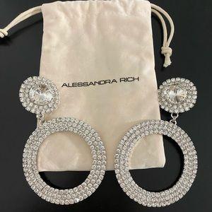 Alessandra rich Crystal hoop earrings